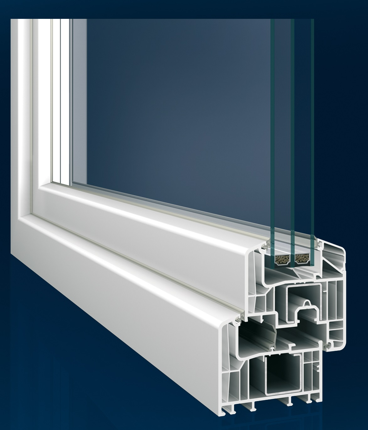Eforte window on blue - Medium